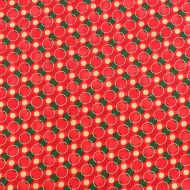 Fabricland Christmas Red 100% Cotton Fabric Fat Quarter