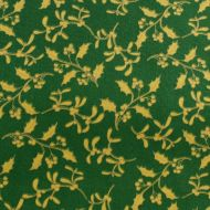 Riley Blake Christmas Green Holy 100% Cotton Fabric Fat Quarter