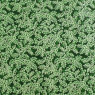 Fabricland Christmas Green Holy 100% Cotton Fabric Fat Quarter