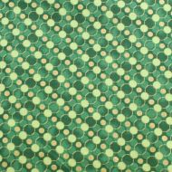 Fabricland Green Circles 100% Cotton Fabric Fat Quarter