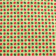 Fabricland Green & Red Circles 100% Cotton Fabric Fat Quarter
