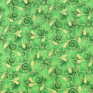 Fabricland Green Christmas 100% Cotton Fabric Fat Quarter