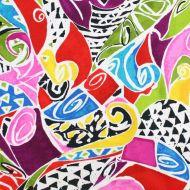 Ink & Arrow Colourful 100% Cotton Fabric Fat Quarter