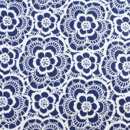 Ink & Arrow Blue 100% Cotton Fabric Fat Quarter