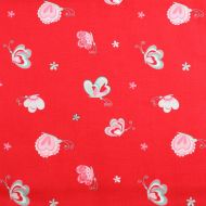 Riley Blake Red 100% Cotton Fabric Fat Quarter