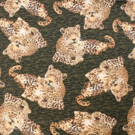 STUDIO E Brand Leopard Animal Cotton Quilting Fabric Fat Quarter