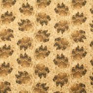 Studio E Brand Leopard Paw Prints Cotton Quilting Craft Fabric Fat Quarter