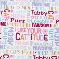 Studio E Fabrics 100% Cotton Fabric Fat Quarter Cat Words