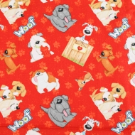 Top Brand Dogs Woof Cotton Quilting Craft Fabric Fat Quarter