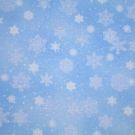 Top Brand Snowflakes Cotton Quilting Craft Fabric Fat Quarter