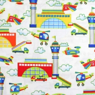 Henry Glass & Co Airports Cotton Quilting Craft Fabric Fat Quarter