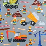 Moda Brand Workmen Building Construction Cotton Quilting Craft Fabric Fat Quarter