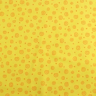 Henry Glass & Co Yellow Swirls Cotton Quilting Craft Fabric Fat Quarter