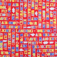 Henry Glass & Co Flying Airplane Words Cotton Quilting Craft Fabric Fat Quarter
