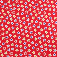 Henry Glass & Co Red Stars Cotton Quilting Craft Fabric Fat Quarter