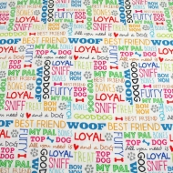 STUDIO E FABRICS Love Dogs Cotton Quilting Craft Fabric Fat Quarter