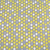 KANVAS FABRIC Bumble Bee Cotton Quilting Craft Fabric Fat Quarter