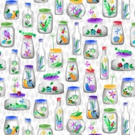 Blank Quilting~Bugs Galore Bugs In The Jar 100% Cotton Craft Quilting Fabric