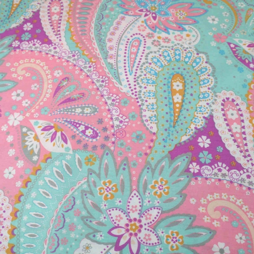 Paisley Style Top Quality Cotton Quilting Craft Fabric per meter