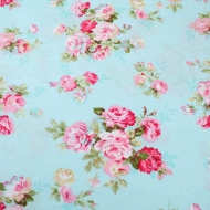 Pink Roses Top Quality Cotton Quilting Craft Fabric per meter