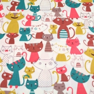 Cats & Kittens Top Quality Cotton Quilting Craft Fabric per meter
