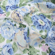 Blue Cabbage Roses Top Quality Cotton Quilting Craft Fabric per meter