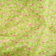 Small Pink Roses Top Quality Cotton Quilting Craft Fabric per meter