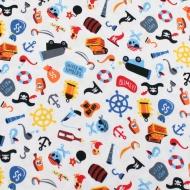 Riley Blake Pirates Cotton Quilting Craft Fabric per FQ, half meter or meter