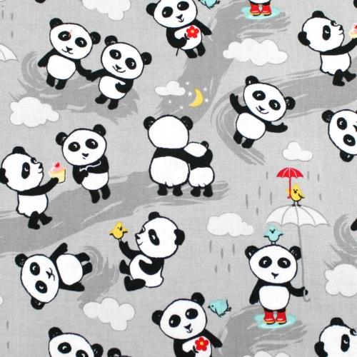 Riley Blake Panda Love Cotton Quilting Craft Fabric per FQ, half meter or meter