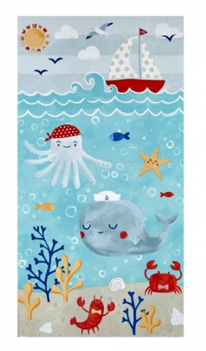 Clothworks~ Sail Away Fabric beach creatures Panel 100% Cotton Craft Quilting Panel Fabric