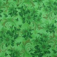 Clockworks~ Green Basic  Backing 100% Cotton Quilting Fabric