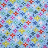 Clothwoeks~ Blue Floral % Cotton Quilting Fabric