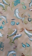 Dolphins Beach Sand 100% Cotton Quilting Fabric