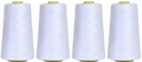 4 x 7000 yard Cones of White Sewing Thread