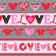 Studio E~ HEARTS OF LOVE 100% Cotton Craft Quilting Fabric