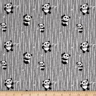 Riley Blake~ Panda Love (Black) 100 % Cotton Quilting Fabric