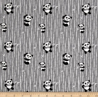 Riley Blake~ Panda Love (Black) 100 % Cotton Quilting Fabric