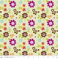Riley Blake~ Little Matryoshka Flowers 100% Cotton Quilting Fabric
