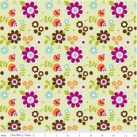 Riley Blake~ Little Matryoshka Flowers 100% Cotton Quilting Fabric