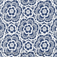 Riley Blake~ Blue Carolina Lace Navy 100% Cotton Quilting Fabric