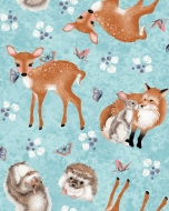 Studio E Fabrics Forest Friends by Nancy Archer Cotton Fabric by FQ, half meter or meter