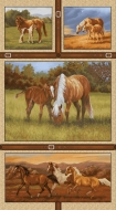 Studio E Fabrics Hold Your Horses Panel by Kathleen Hill Cotton Fabric