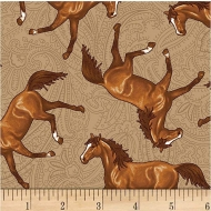 Studio E Fabrics Hold Your Horse Collection Cotton Fabric by FQ, Half Meter or Meter