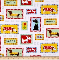 Henry Glass Daddy & Me Dog Lovers 100% Cotton Quilting Fabric
