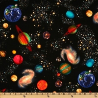 Timeless Treasures Solar System Space 100% Cotton Quilting Fabric