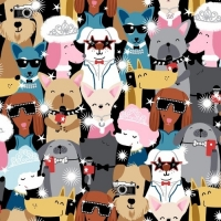 Studio E Fabrics Pups Headshots 100% Cotton Quilting Fabric