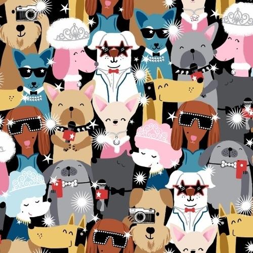 Studio E Fabrics Pups Headshots 100% Cotton Quilting Fabric