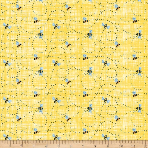 Blank Quilting Busy Bees Home Sweet Home Cotton Quilt Fabric 100% Cotton Quilting Fabric