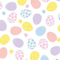 Kanvas Quilting Love Bunny Tossed Easter Eggs White Cotton Quilt Fabric 100% Cotton Quilting Fabric