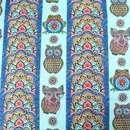 Blank Quilting ~ MANDALA TANGO BLUE OWL MANDALA STRIPE 100% Cotton Craft Quilting Fabric